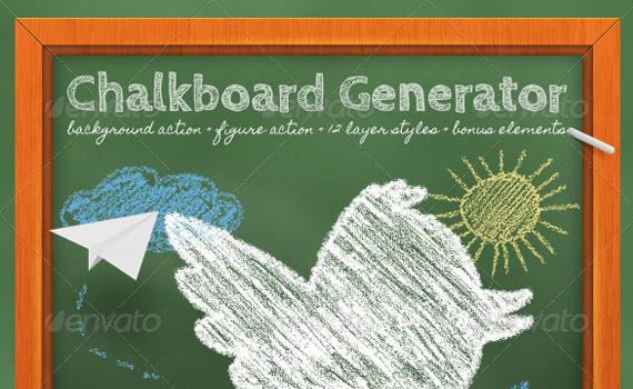 Chalkboard-generator-premium-photoshop-actions