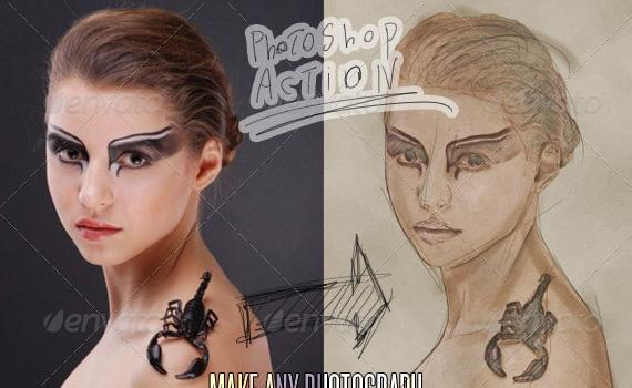Sketch-art-premium-photoshop-actions