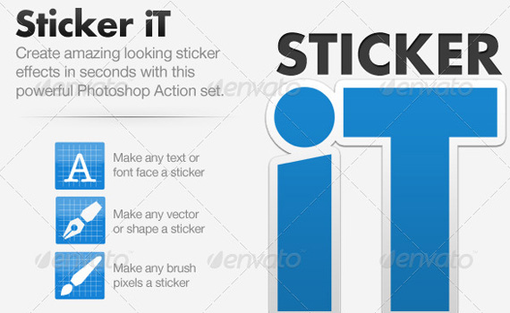 Sticker-premium-photoshop-actions