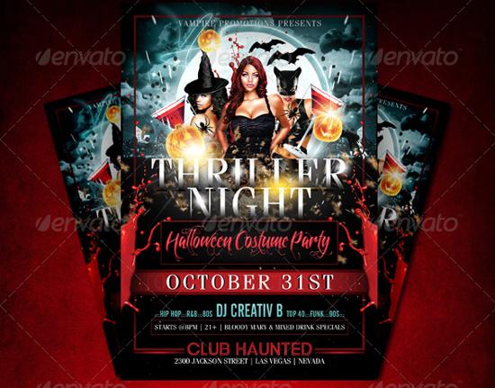 Thriller Night Halloween Flyer Template