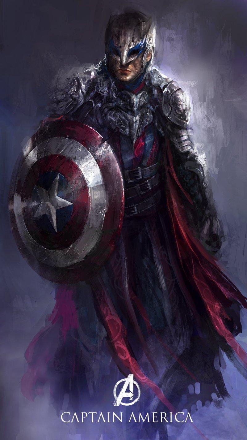 captain-america-redesign-medieval-warrior-fantasy