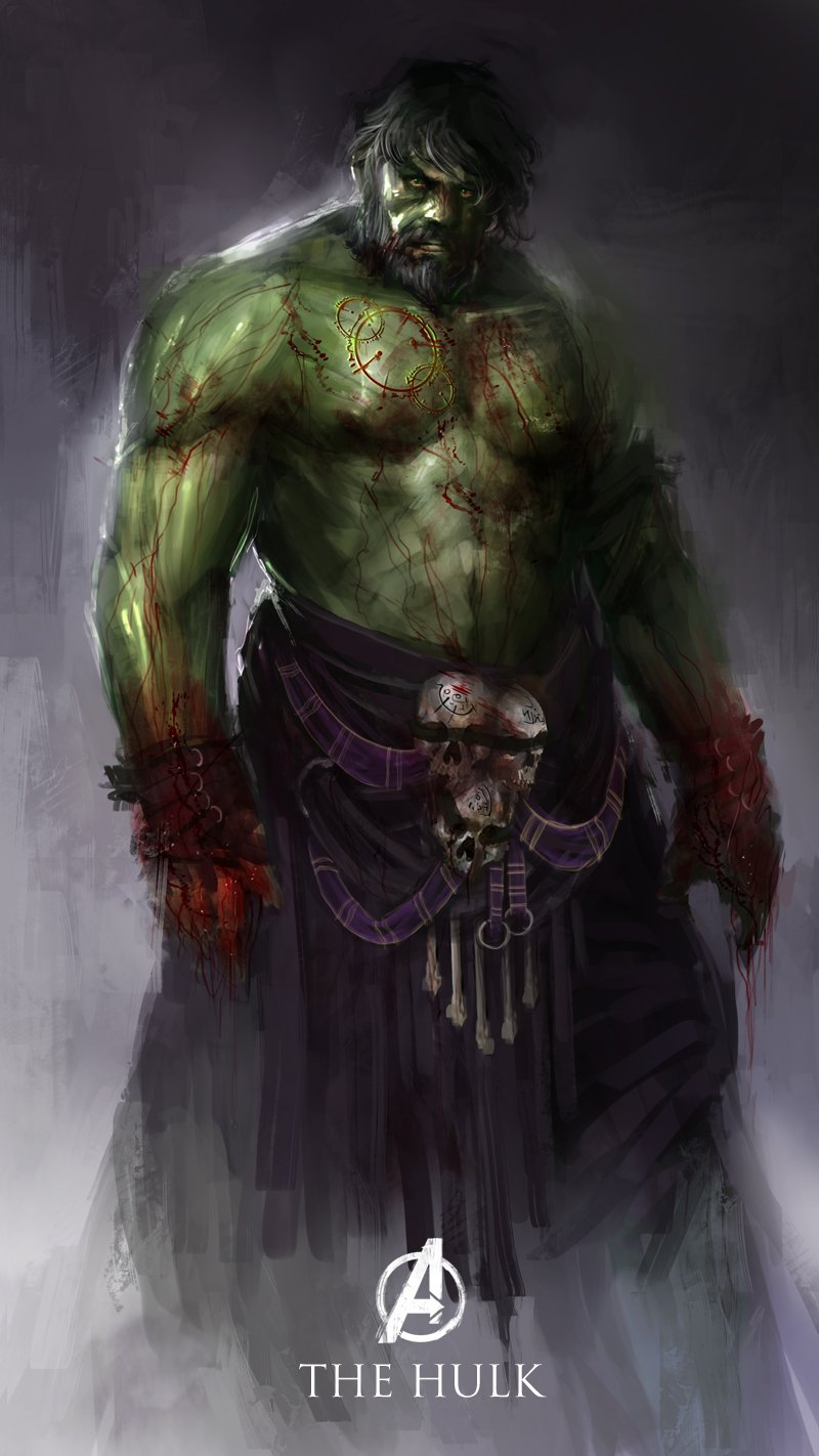 The Avengers Reimagined As Dark Fantasy Warriors ...