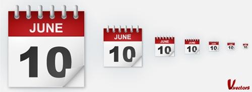 Create a classic calendar icon