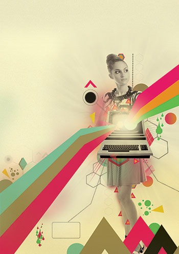 Photoshop Illustrator Tutorial Create retro poster art