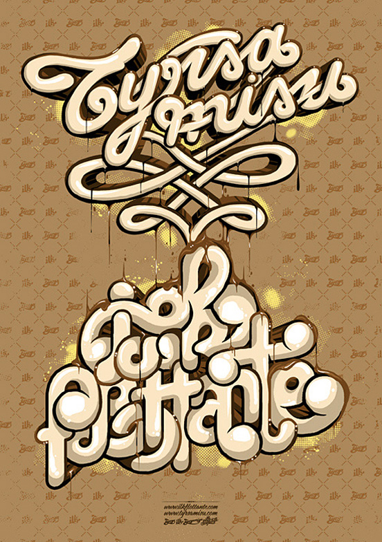 tyrsa tyrsamisu l1 50 Remarkable Examples Of Typography Design #3