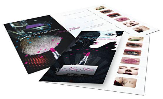 Fashion Brochure Design Examples - Makeup Brochure