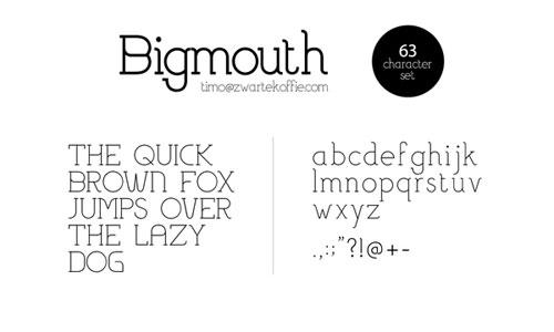 Download Bigmouth free font