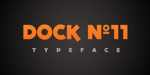 Download DOCK11 free font