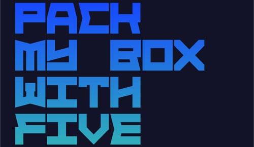 Download Block face free font