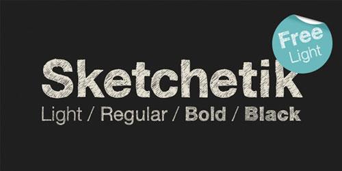 Download sketchetica free font