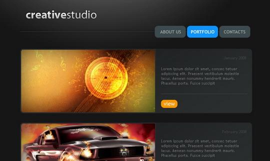 creative-studio-web-page