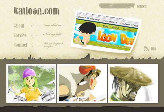 design-a-cartoon-grunge-web-site-layout