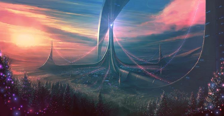 futuristic digital painting