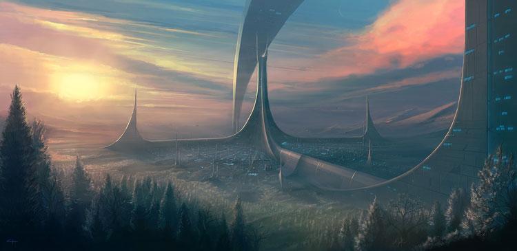 dawn digital painting