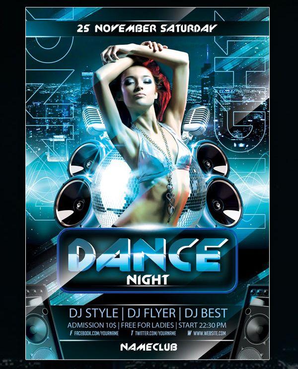 dance night flyer