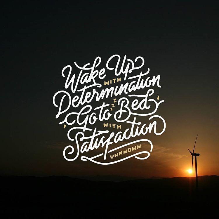 wake up typography design