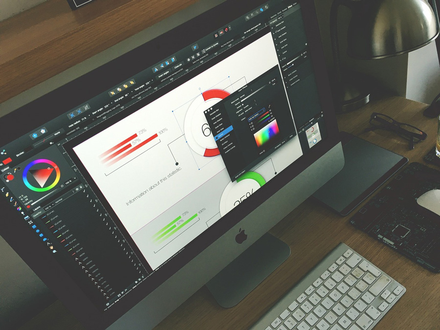 graphic designer workstation office