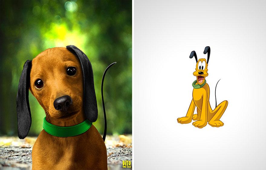 cartoon characters real life