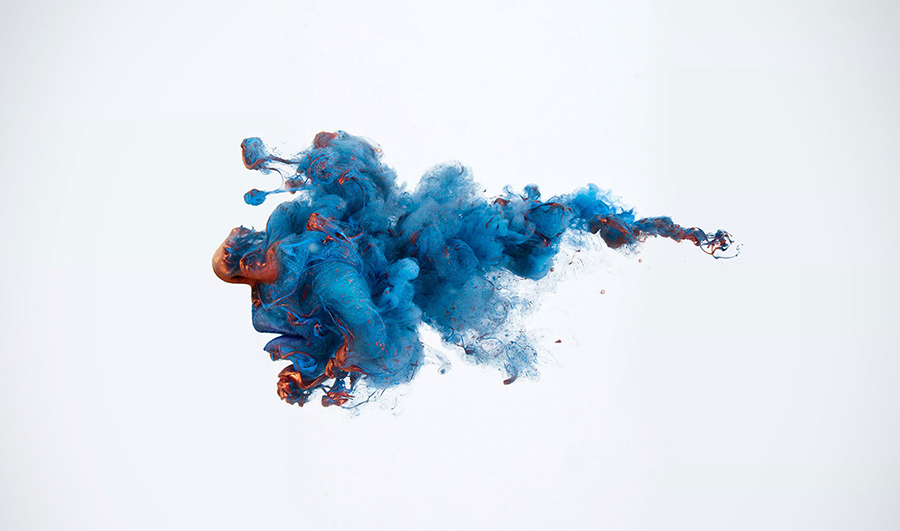 blue fluid digital abstract art