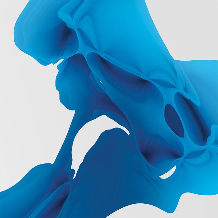 blue illustration fluid abstract art
