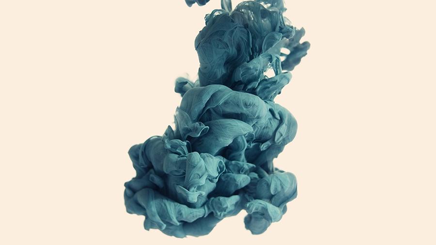 light blue smoke like abstract art