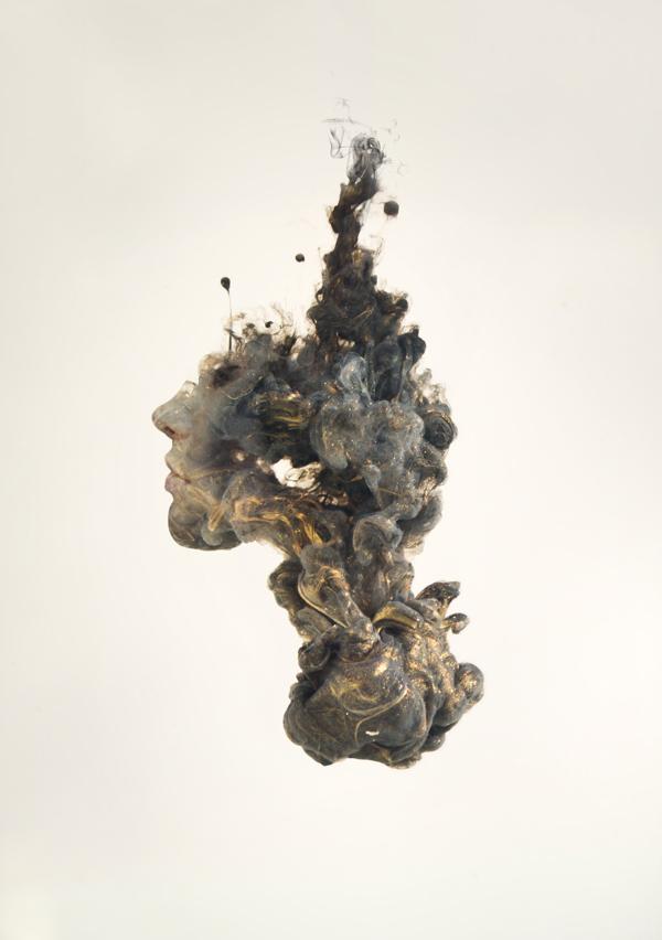sparkling smoke fluid abstract art