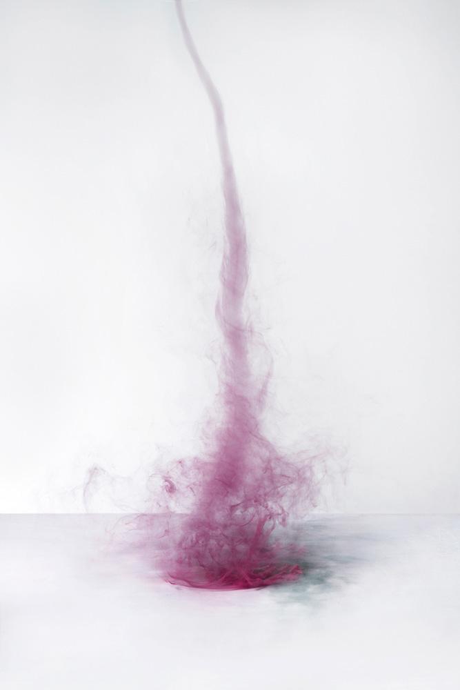 pink smoke abstract art