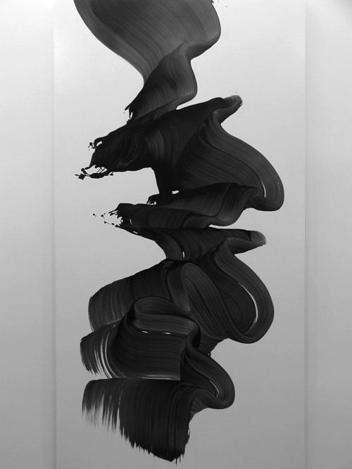 fluid paint stain abstract art