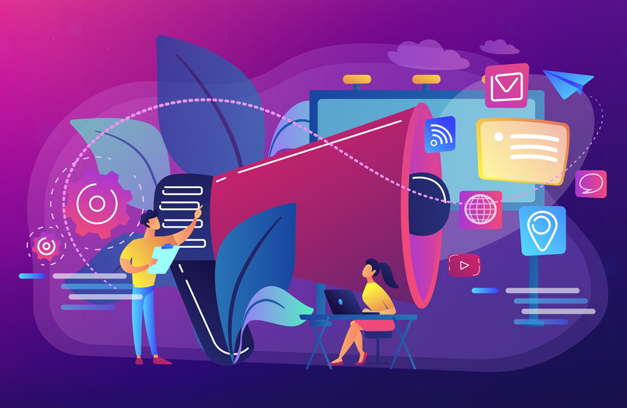 marketing team work concept illustration