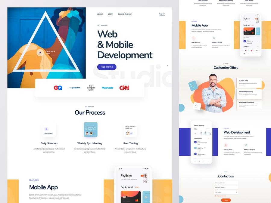 Web Agency Homepage Design