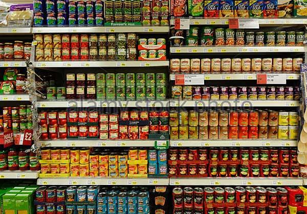 1 supermarket tins