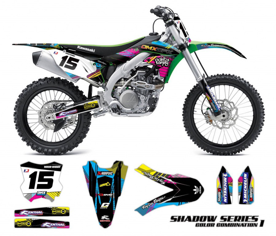 motocross bike high quality graphics kits