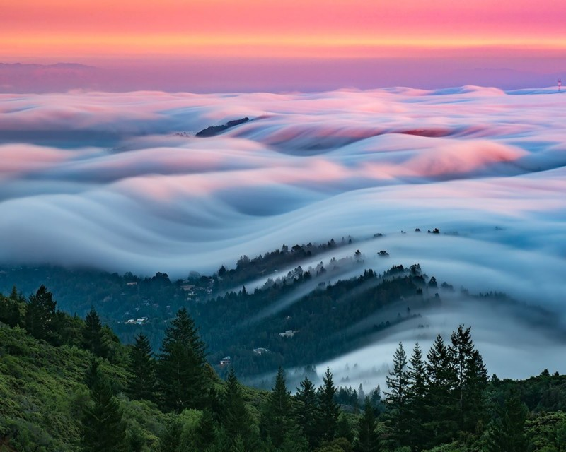 mist cloud motion long exposure night